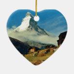 Cervino, Zermatt, Suiza Ornaments Para Arbol De Navidad