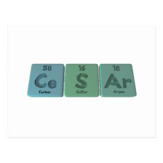 Cesar as Cerium  Sulfur Argon Postcard
