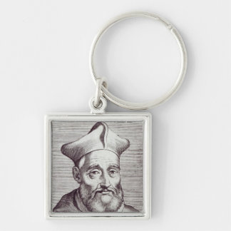 César cardinal Baronio Llavero Cuadrado Plateado