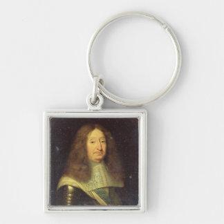 Cesar de Borbón Duque de Vendome y Beaufort Llavero Cuadrado Plateado