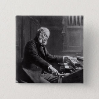 Cesar Franck at the console of the organ Pinback Button