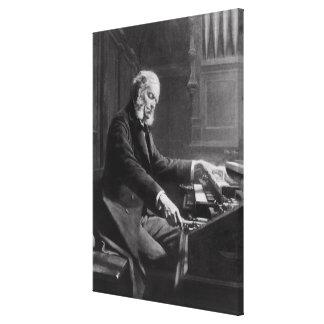 Cesar Franck en la consola del órgano Impresión En Tela