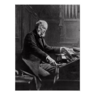 Cesar Franck en la consola del órgano Poster