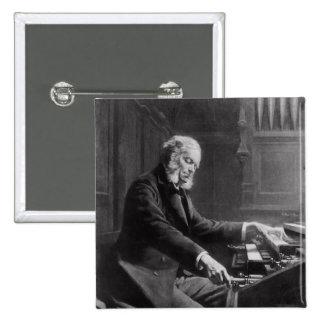 Cesar Franck en la consola del órgano Pin Cuadrada 5 Cm