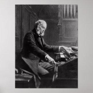 Cesar Franck en la consola del órgano Póster