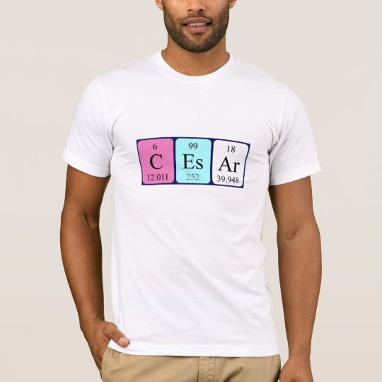 Cesar periodic table name shirt