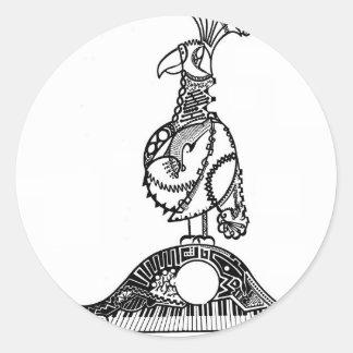 César que cruza el Rin (loro y tortuga) Etiqueta Redonda