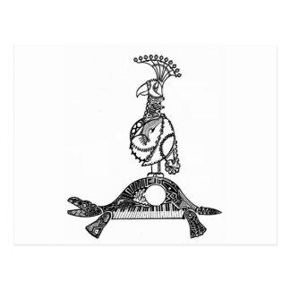 César que cruza el Rin (loro y tortuga) Tarjetas Postales