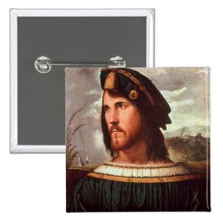 Cesare Borgia  Duke of Valencia 2 Inch Square Button