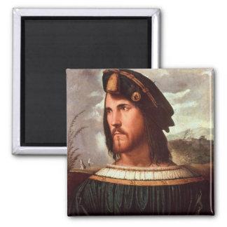 Cesare Borgia  Duke of Valencia 2 Inch Square Magnet