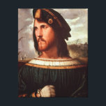 "Cesare Borgia  Duke of Valencia Canvas Print<br><div class=""desc"">Cesare Borgia | by Altobello Meloni | Art Location: Galleria dell&#39; Accademia Carrara,  Bergamo,  Italy | Italian Artist | Image Collection Number: XIR158898</div>"