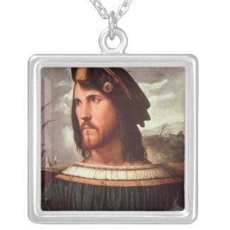 Cesare Borgia  Duke of Valencia Square Pendant Necklace