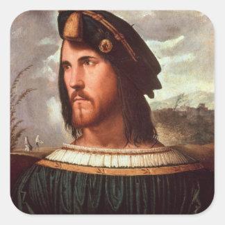 Cesare Borgia  Duke of Valencia Square Sticker