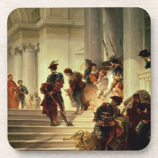 Cesare Borgia leaving the Vatican Coaster
