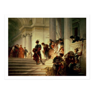 Cesare Borgia leaving the Vatican Postcard