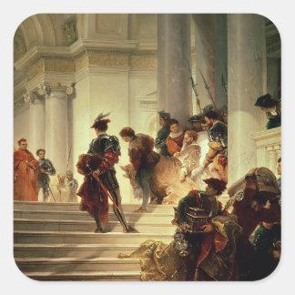 Cesare Borgia leaving the Vatican Square Sticker