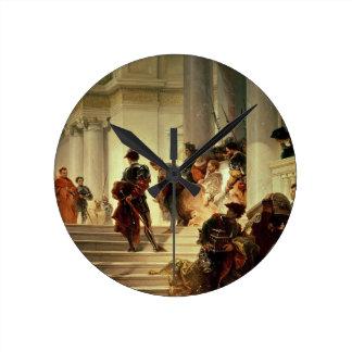 Cesare Borgia que sale del Vatican Relojes De Pared
