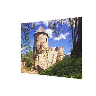 Cesis Castle in central Latvia. Canvas Print