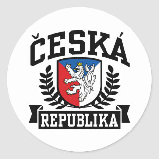 Ceska Republika Classic Round Sticker