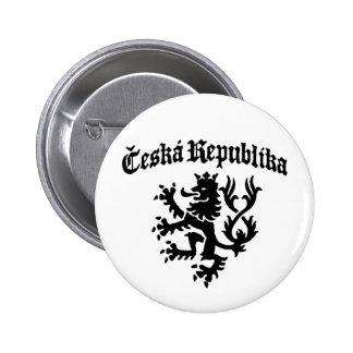 Ceska Republika Pin Redondo 5 Cm