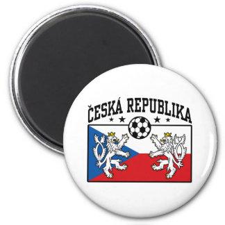 Ceska Republika Soccer 2 Inch Round Magnet