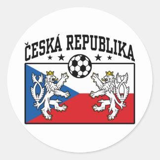 Ceska Republika Soccer Classic Round Sticker