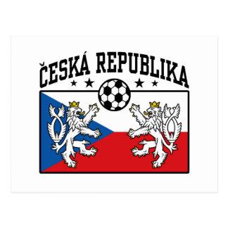 Ceska Republika Soccer Postcard
