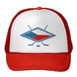 Český checo del logotipo de la bandera del hockey gorra