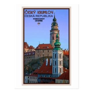 Cesky Krumlov - dos torres Tarjetas Postales