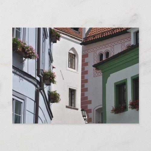 Cesky Krumlov old town postcard postcard