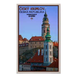 Cesky Krumlov - Two Towers Poster