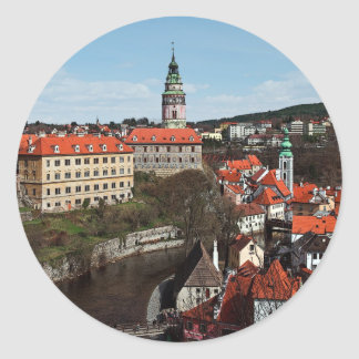 Cesky Krumlov - Vltava River Classic Round Sticker