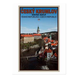 Cesky Krumlov - Vltava River Postcard