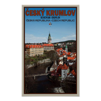 Cesky Krumlov - Vltava River Poster