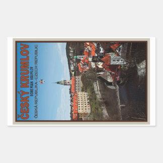 Cesky Krumlov - Vltava River Rectangular Sticker