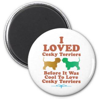 Cesky Terrier 2 Inch Round Magnet