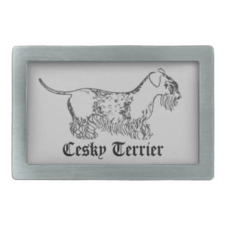Cesky Terrier Belt Buckle