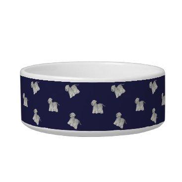 USA Themed Cesky Terrier Bowl