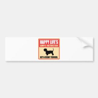 Cesky Terrier Bumper Sticker