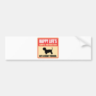 Cesky Terrier Car Bumper Sticker