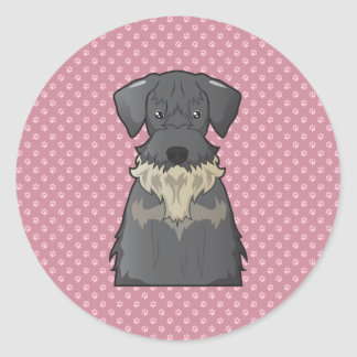 Cesky Terrier Cartoon Classic Round Sticker