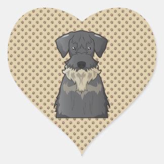 Cesky Terrier Cartoon Heart Sticker