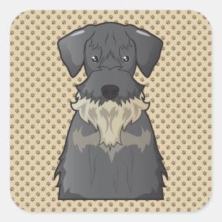 Cesky Terrier Cartoon Square Sticker