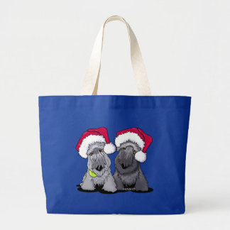 Cesky Terrier Christmas Large Tote Bag