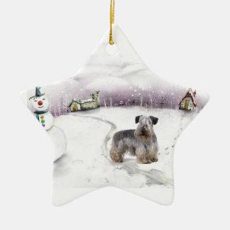 Cesky Terrier Christmas ornament