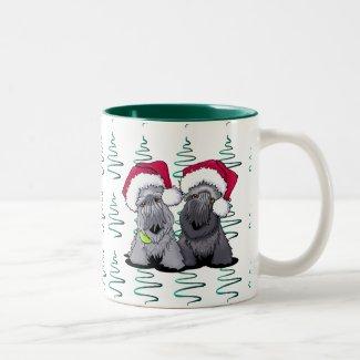 Cesky Terrier Christmas Two-Tone Coffee Mug
