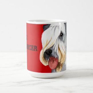 Cesky Terrier Color Block Coffee Mug