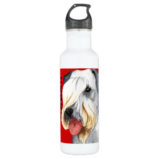 Cesky Terrier Color Block Stainless Steel Water Bottle