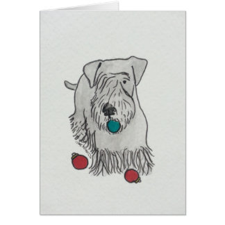 Cesky Terrier Decorating Greeting Cards