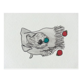 Cesky Terrier Decorating Postcard